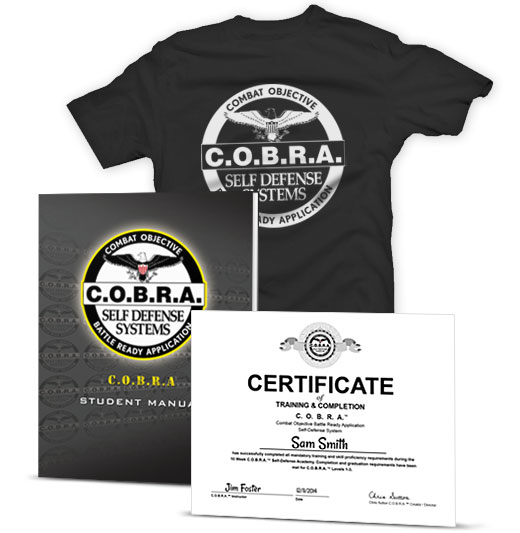 Included C.O.B.R.A.™ self-defense material.